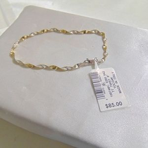 Giani Bernini Sterling Silver/Gold Twist Bracelet